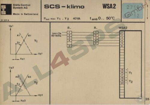 SCS-KLIMO WSA2 HEIZUNGSREGLER STAEFA CONTROL