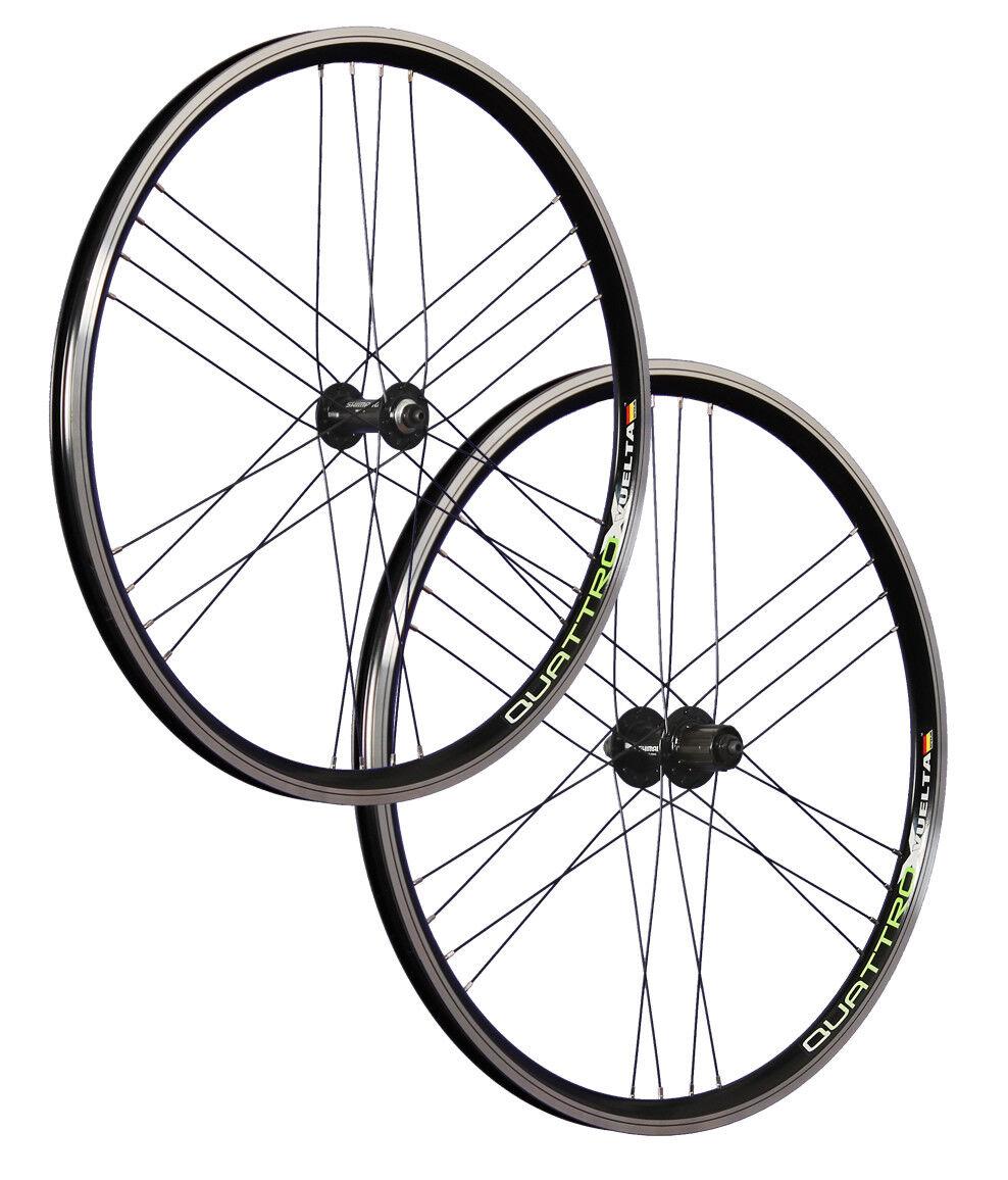 VUELTA 26 pollici set ruote bici Airtec1 Shimano HB   FH-RM40 black 24 fori