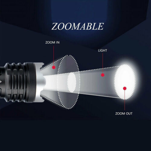 Most Bright XHP160 LED Flashlight 21700 USB Rechargeable Zoom Tactical Light