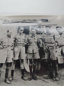 vintage-ww2-war-correspondents-Canadian-CBC-6-men-Mathew-H-Halton-8x10-original