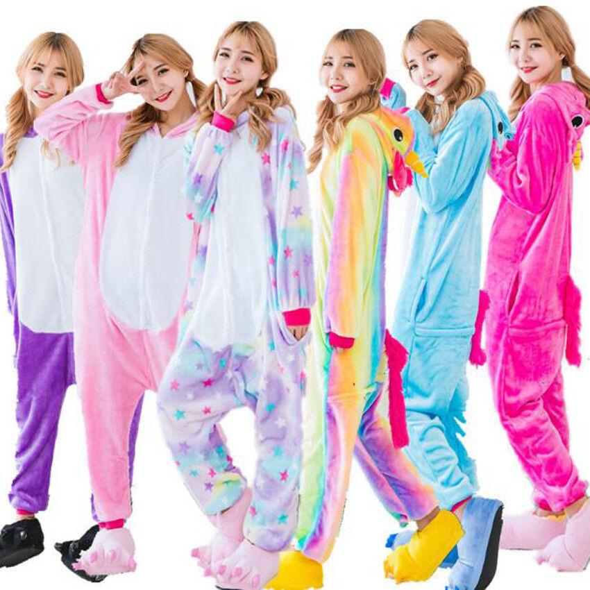 Unisex Adult Pajamas Unicorn Kigurumi Cosplay Costume Animal