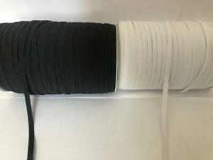 5-Meter-length-of-Black-Or-White-6mm-FLAT-Elastic-8-Cord-Excellent-Quality