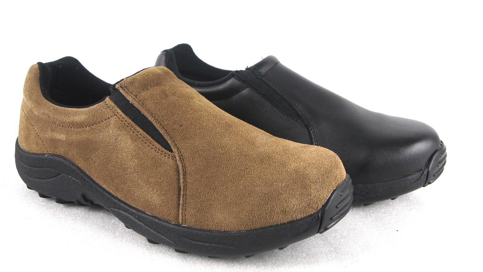 Brazos Steel Men's Leather Slip On Steel Brazos Toe Safety Work Shoes 14a677
