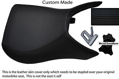 BLACK STITCH CUSTOM FITS HYOSUNG GT 650 R COMET 06-10 FRONT LEATHER SEAT COVER