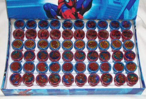 60 pcs Amazing Spider-Man Self Inking Rubber Stamper Pencil Topper Marvel Favor