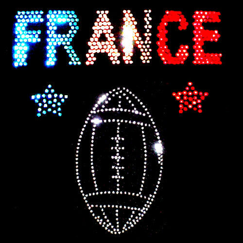 WITH RHINESTUDS FRANCE FRENCH RUGBY SPORTS  VESTS TANK TOPS all sizes 8 to 16