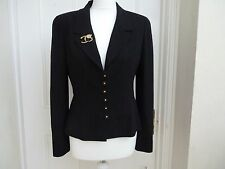 Chanel jacket  in black with 12x black & golden  buttons