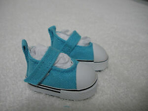 Fits-10-034-Patsy-Tonner-Effanbee-Doll-Sea-Blue-Canvas-Strap-Sneakers-Shoes-D1390
