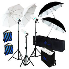 NEW_Umbrella 600W Continuous Lighting Kit Photo Studio for Portrait Photography