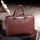 BVP High-end Men Cowhide Attache Case Briefcase Laptop Document Garment Hand Bag