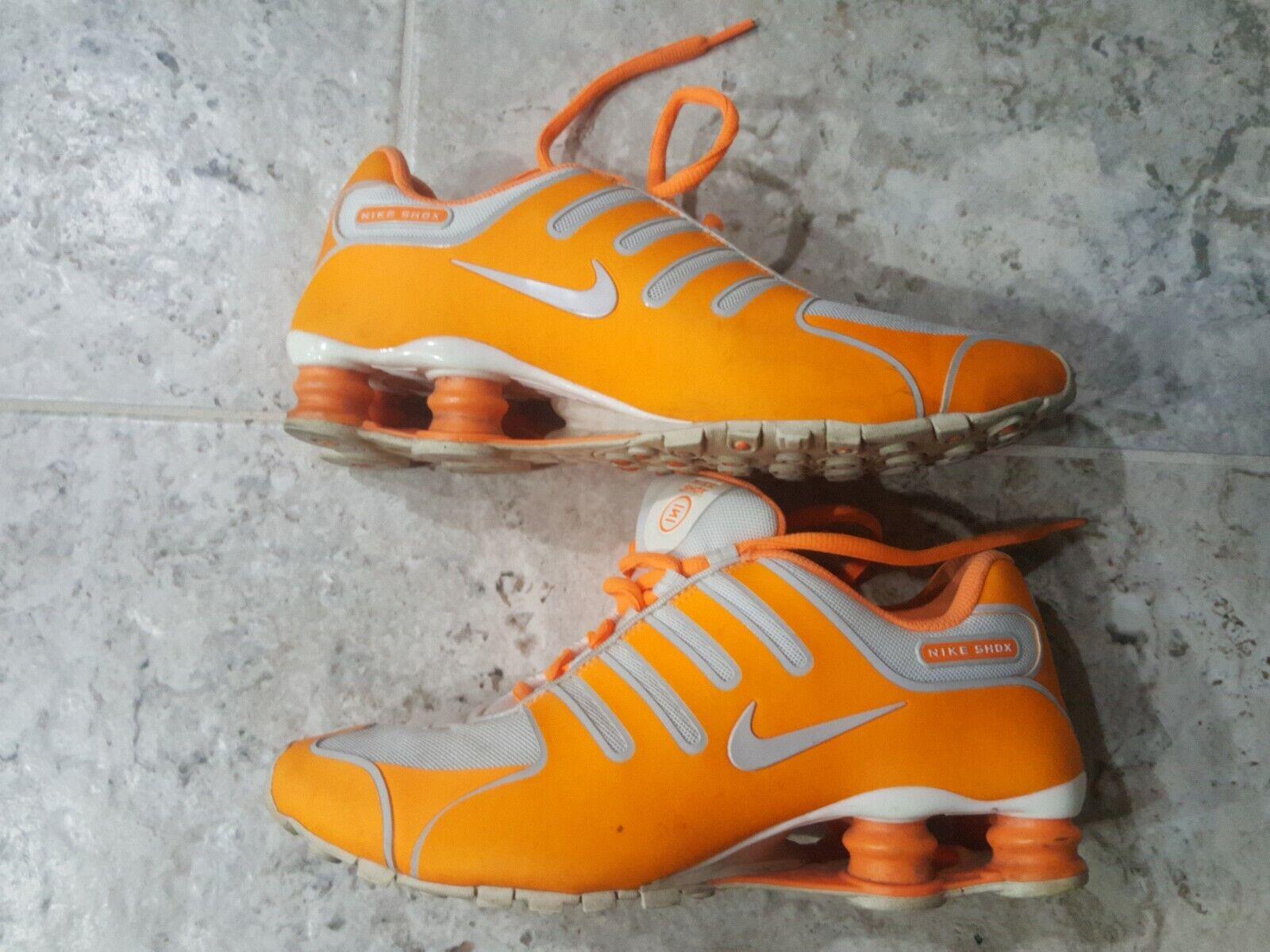 NIKE WOMEN'S SHOX NZ HYPER NEON orange 580574-800 SZ US8.5 UK6 EXTREMELY RARE