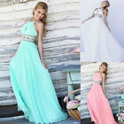 Sexy Women Long Chiffon Evening Formal Party Cocktail Dress Bridesmaid Prom Gown