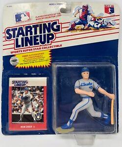 1988 KENNER STARTING LINEUP MLB ROB DEER MILWAUKEE BREWERS MOC