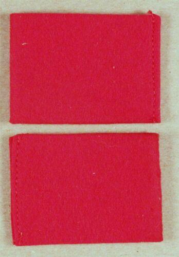 red felt - sewn U.S pair Army Cloth Leadership Shoulder Loops