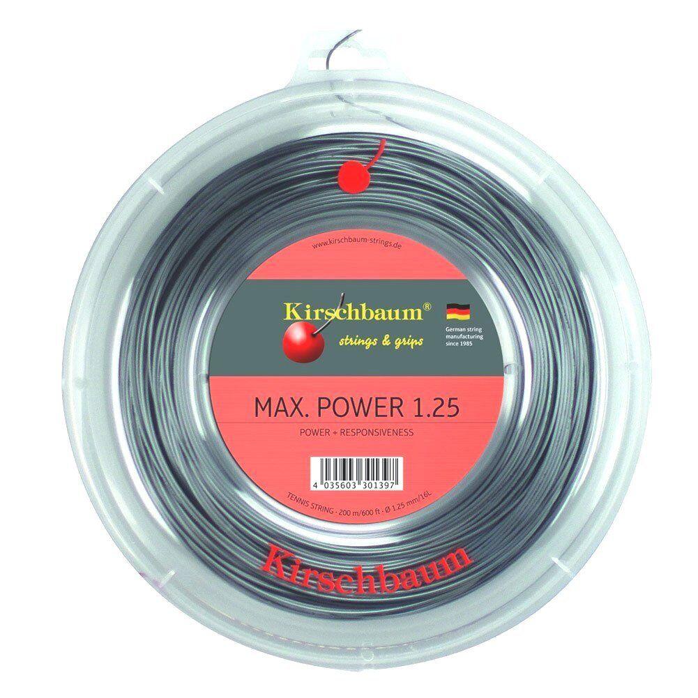 Kirschbaum Max Power 1,25 mm 200 m m m Tennissaiten Tennis Strings  | Diversified In Packaging  | Erste Klasse in seiner Klasse  | Ruf zuerst  99b199