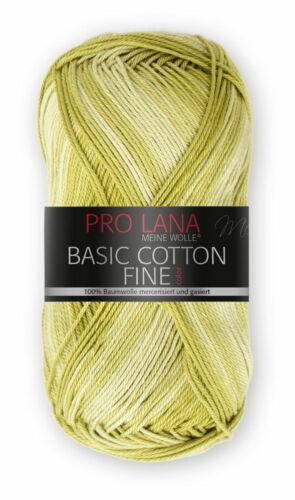 6,60€//100g  Basic Cotton fine color 50g Pro Lana Häkelgarn BW Farbverlaufgarn