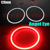 2x Angel Eyes Cob Halo Ring Red 120mm Led Light Headlight Fog Housing