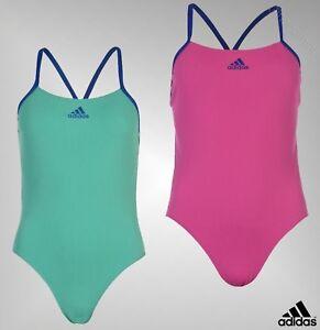 4e1f88ce5b Image is loading Ladies-Genuine-Adidas-Lightweight-Printed-Logo-Performance- Swimsuit-