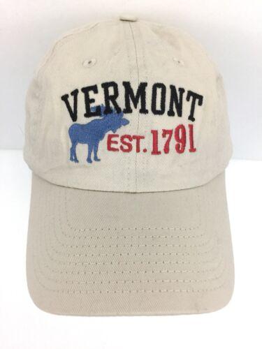 Vermont Cap Est.1791 Hat Moose Logo Strap Back Tru