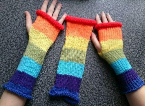 Rainbow//Pride wrist warmers