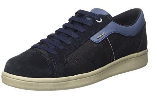 GEOX Scarpe Casual Uomo stringate WARRENS NAVY TG. 42 Sneakers Blu Saldi offerta