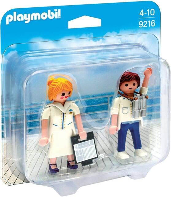 BNIP PLAYMOBIL 9216 DUO PACK Cruise Ship Officers - LIMITED STOCK!
