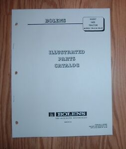 Details about BOLENS 1455 HUSKY HYDRO TRACTOR ILLUSTRATED PARTS LIST MANUAL