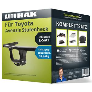 E-Satz NEU ABE PKW Anhängerkupplung starr für TOYOTA Avensis Stufenheck