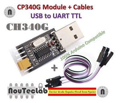 Cable for Arduino USB to TTL Converter UART module CH340G CH340 3.3V 5V Switch