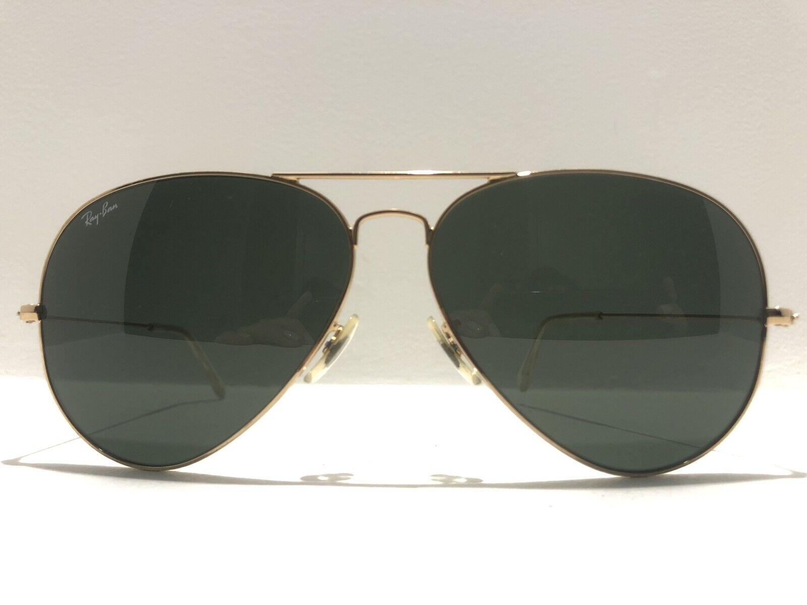 ray ban aviators gold green lens