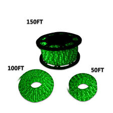 New 50'100'150' LED Rope Light Home In/Outdoor Christmas Decorative Party Green