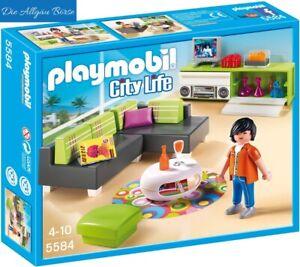 Détails sur Playmobil 5584 Moderne Salon City Life Maison Unifamiliale  Villa Neuf Emballage