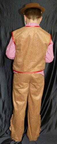 hellbraun mit Kuhmuster Wild West Karneval 128000013 Cowboy Kostüm 2-tlg