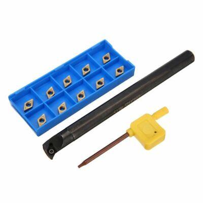 S12M SDUCR07 Bohrstange Klemmhalter 10X DCMT0702 Wendeplatten für Drehmeißel