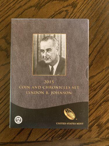 Lyndon B Johnson 2015 Coin and Chronicles Set