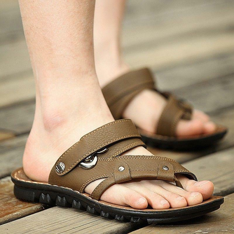 f83f7ff8f750 Mens Leisure Flip Flops Slipper Toe Ring Faux Leather Gladiator Gladiator  Gladiator Beach Sandal 0e376b