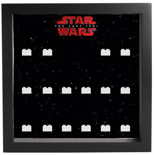 Lego Star Wars The Last Jedi  Minifigures Display Case Picture Frame  mini fig