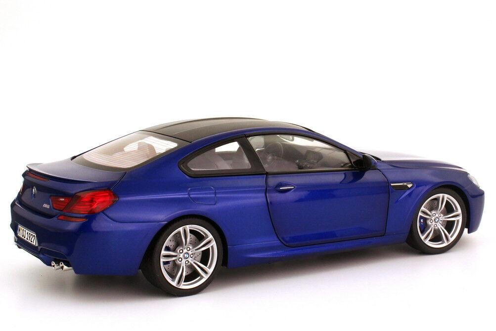 Voiture Modèle; 2012 BMW M6 Coupé (F13) bleu métallique 1 18 échelle 80432218737