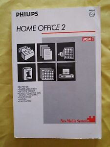 Book-msx2-Home-Office-2-new-media-systems-Philips-retrocomputer-Vintage-Manual
