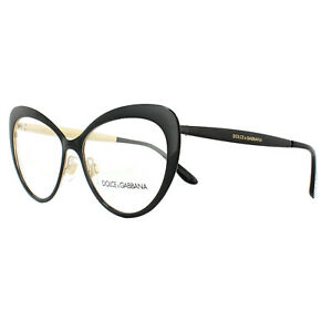 1e2e3b1c369 Dolce   Gabbana Glasses Frames DG 1294 01 Black Gold 54mm Womens