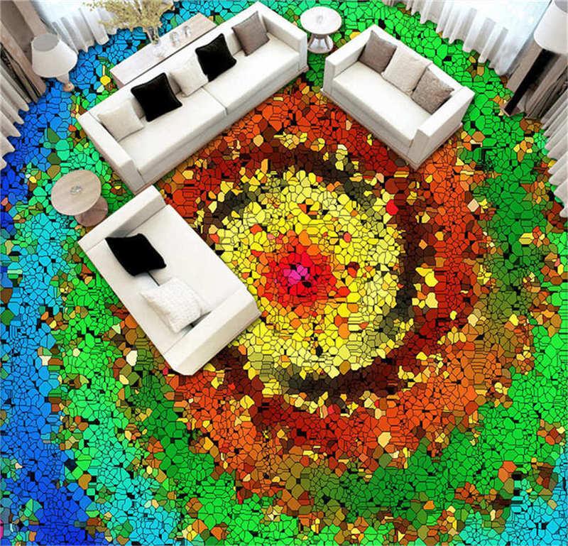 Fantastische Aussicht 3D Fußboden Wandgemälde Foto Bodenbelag Tapete Zuhause Dru