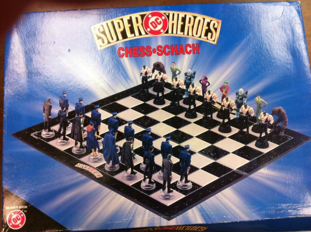 DC Superheroes Batman Chess Set (Very Rare) with FREE shipping