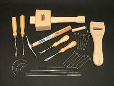 Tapicería Kit de herramientas 19 Mazo De Tachuela Grapa Cinceles Martillo Camilla agujas