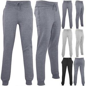Polar-Para-hombre-Cintura-Elastica-Slim-Fit-Pantalones-De-Chandal-Jog-Pista-Pantalon-gymming