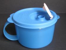 Tupperware Crystalwave Microwave Safe Soup or Ice Cream Mug 16-oz Blue New