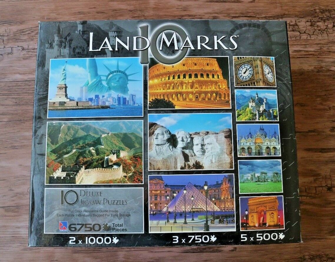 10 Lemarks Jigsaw Puzzles Great Wtutti  Mt Rushmore Stonehenge gree Ben Louvre  negozio outlet