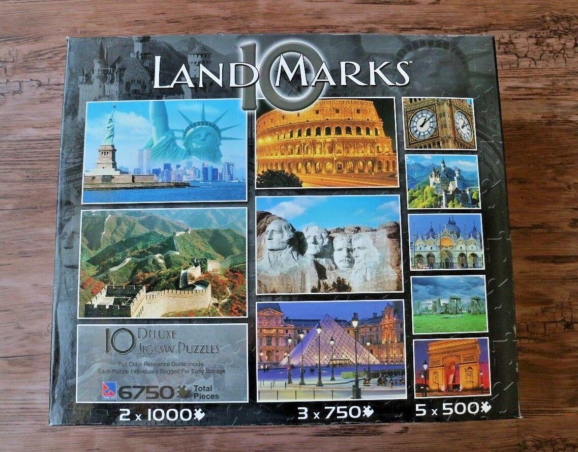 10 Landmarks Jigsaw Puzzles Great Wall Mt Rushmore Stonehenge Big Ben Louvre