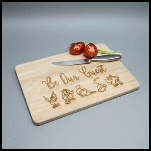 Be our guest wooden chopping//cutting//cheese board beauty and the beast gift