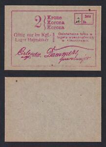 Hungría - 2 Korona 1914 Lager (campo de cautiverio) FDS UNC-B-09