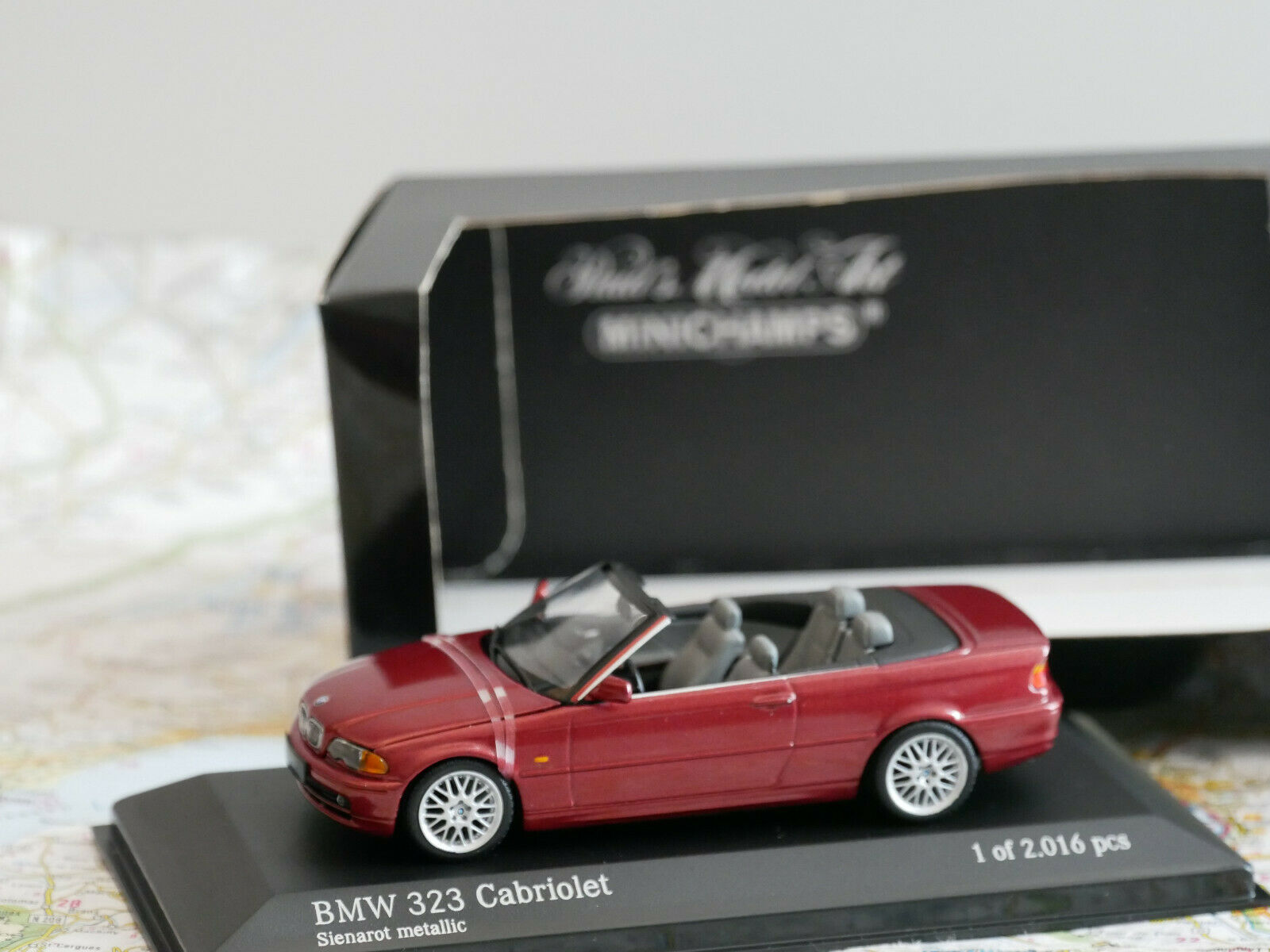 MINICHAMPS BMW BMW BMW 3-SERIES CABRIOLET 2000 RED ART.431028030  NEW DIE-CAST 1e30a2